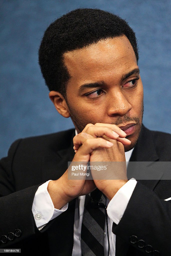 Actor Andre Holland makes a few attends the cast of '1600 Penn' discussion at The National Press Club on January 9, 2013 in Washington, DC.