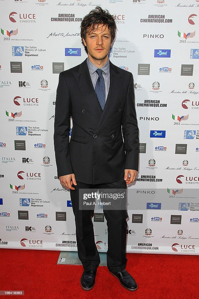 Actor Andrea Bosca arrives to the 2012 Cinema Italian Style Opening Night Gala Screening Of 'Caesar Must Die' at the Egyptian Theatre on November 14, 2012 in Hollywood, California.