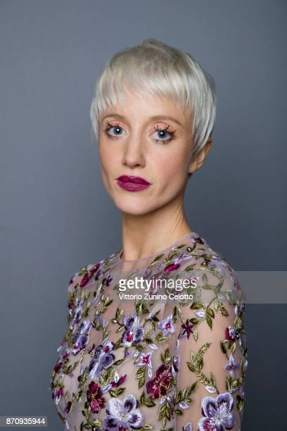 Actor Andrea Riseborough is photographed during the 61st BFI London Film Festival on October 14 2017 in London England