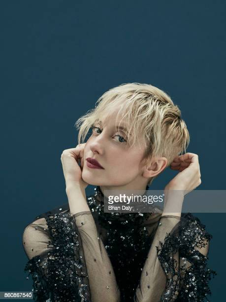 Actor Andrea Riseborough is photographed for Stella magazine UK on August 3 2016 in London England