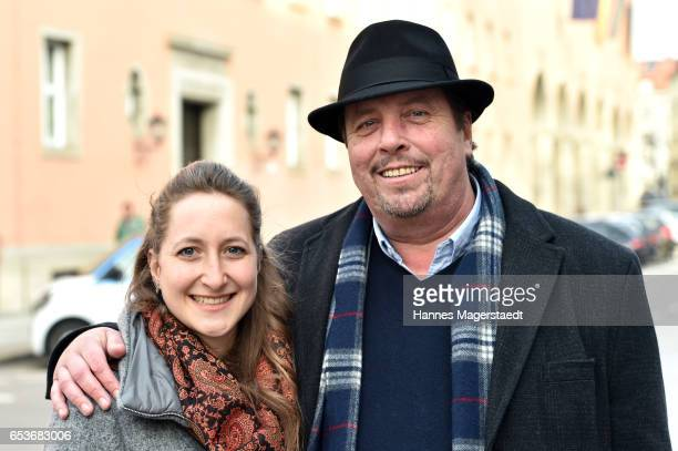 Actor Andreas Giebel and his daughter Sarah Giebel during the NdF after work press cocktail at Parkcafe on March 15 2017 in Munich Germany