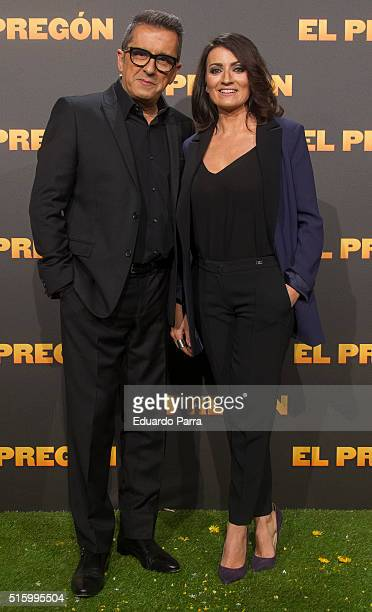 Actor Andreu Buenafuente and actress Silvia Abril attend 'El pregon' premiere at Capitol cinema on March 16 2016 in Madrid Spain