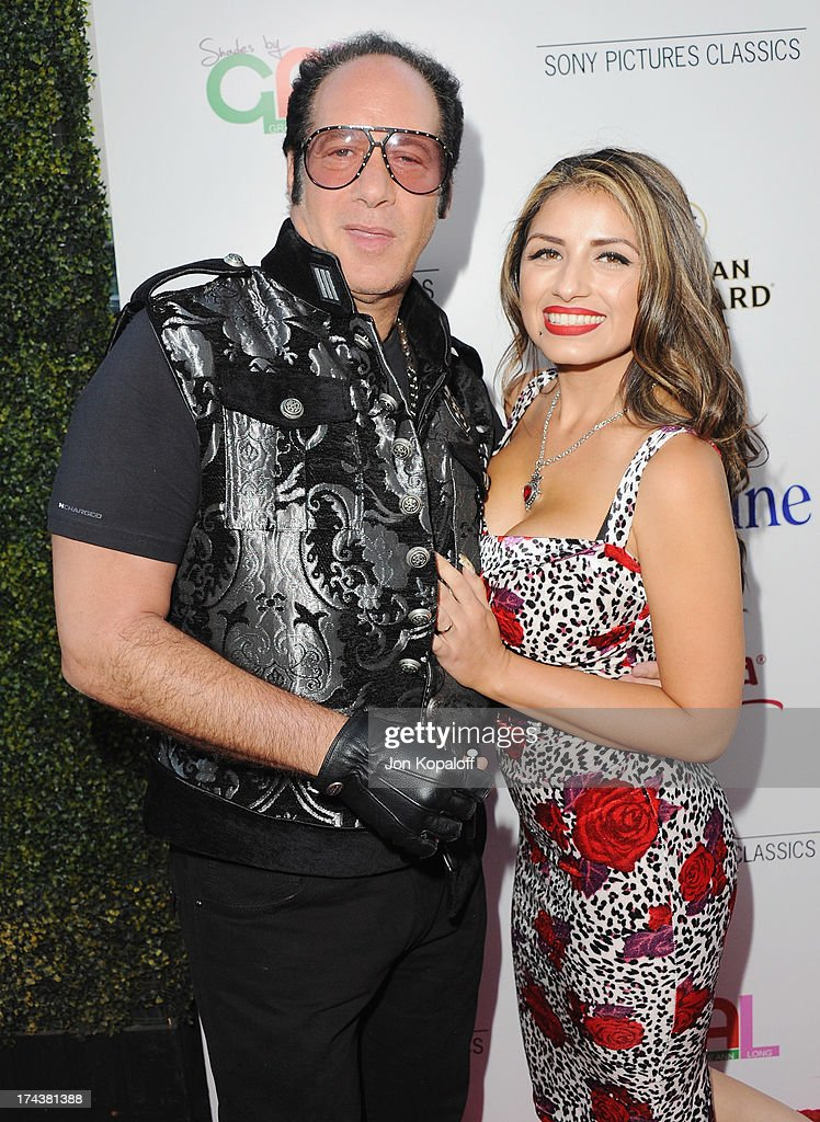 Actor <a gi-track='captionPersonalityLinkClicked' href=/galleries/search?phrase=Andrew+Dice+Clay&family=editorial&specificpeople=678985 ng-click='$event.stopPropagation()'>Andrew Dice Clay</a> and wife Valerie Vasquez arrive at the Los Angeles Premiere 'Blue Jasmine' at the Academy of Motion Picture Arts and Sciences on July 24, 2013 in Beverly Hills, California.