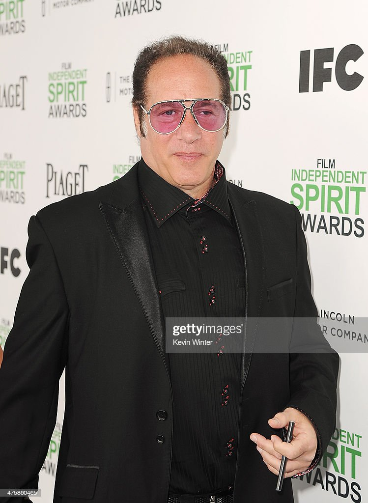 Actor <a gi-track='captionPersonalityLinkClicked' href=/galleries/search?phrase=Andrew+Dice+Clay&family=editorial&specificpeople=678985 ng-click='$event.stopPropagation()'>Andrew Dice Clay</a> attends the 2014 Film Independent Spirit Awards at Santa Monica Beach on March 1, 2014 in Santa Monica, California.