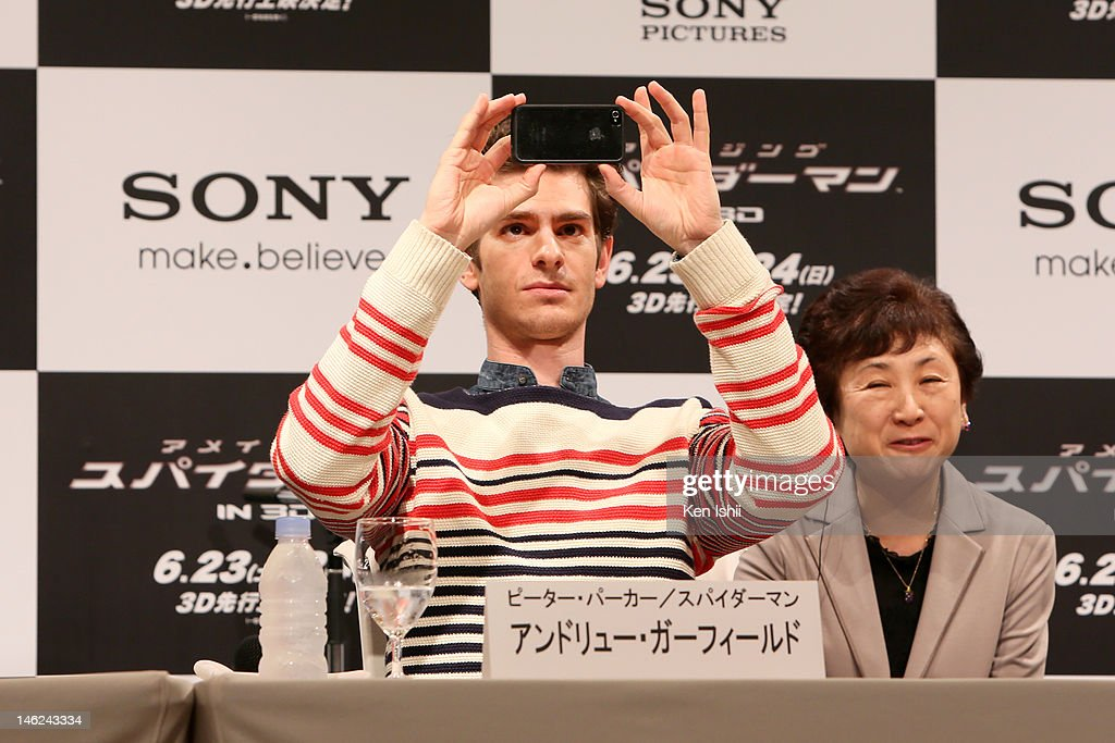 Actor Andrew Gafield attends 'The Amazing Spider-Man' press conference at Roppongi on June 13, 2012 in Tokyo, Japan. The film will open on June 30, 2012 in Japan.