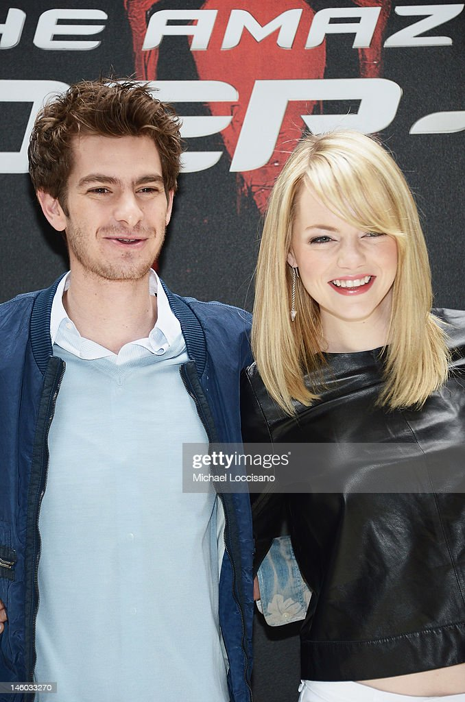 Actor <a gi-track='captionPersonalityLinkClicked' href=/galleries/search?phrase=Andrew+Garfield&family=editorial&specificpeople=4047840 ng-click='$event.stopPropagation()'>Andrew Garfield</a> and actress <a gi-track='captionPersonalityLinkClicked' href=/galleries/search?phrase=Emma+Stone&family=editorial&specificpeople=672023 ng-click='$event.stopPropagation()'>Emma Stone</a> attend the 'The Amazing Spider-Man' New York City Photo Call at Crosby Street Hotel on June 9, 2012 in New York City.