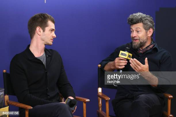 Actor Andrew Garfield and director Andy Serkis of 'Breathe' attend The IMDb Studio Hosted By The Visa Infinite Lounge at The 2017 Toronto...