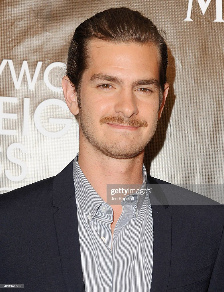 Actor <a gi-track='captionPersonalityLinkClicked' href=/galleries/search?phrase=Andrew+Garfield&family=editorial&specificpeople=4047840 ng-click='$event.stopPropagation()'>Andrew Garfield</a> arrives at Hollywood Foreign Press Association Hosts Annual Grants Banquet at the Beverly Wilshire Four Seasons Hotel on August 13, 2015 in Beverly Hills, California.