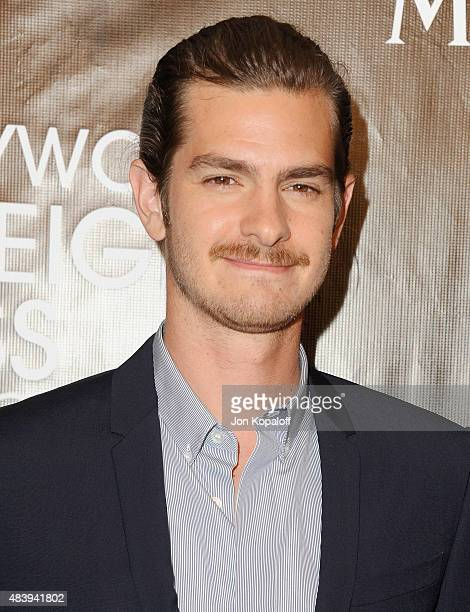 Actor Andrew Garfield arrives at Hollywood Foreign Press Association Hosts Annual Grants Banquet at the Beverly Wilshire Four Seasons Hotel on August...