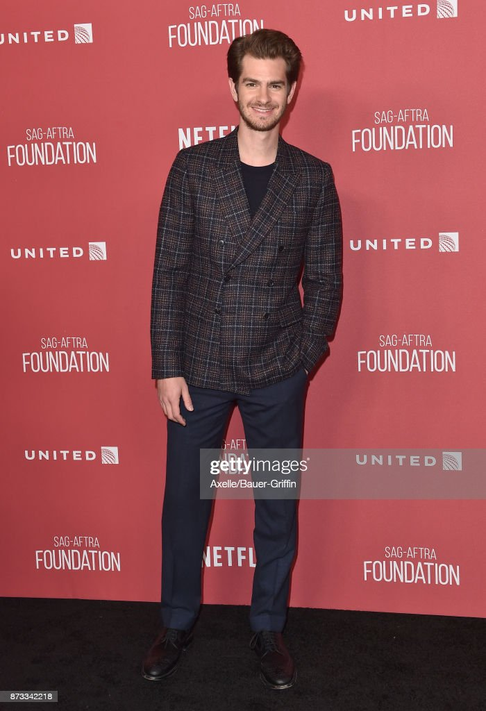 Actor Andrew Garfield arrives at SAG-AFTRA Foundation Patron of the Artists Awards 2017 on November 9, 2017 in Beverly Hills, California.