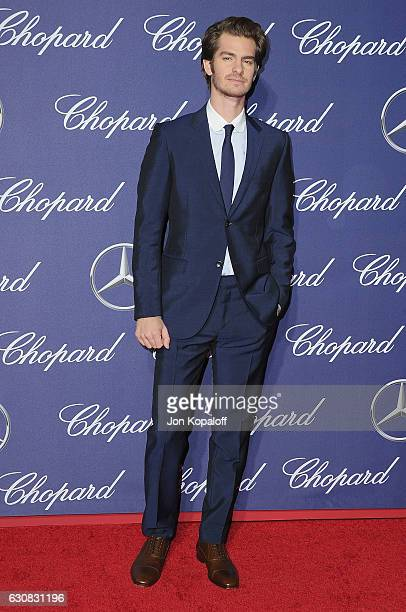 Actor Andrew Garfield arrives at the 28th Annual Palm Springs International Film Festival Film Awards Gala at Palm Springs Convention Center on...