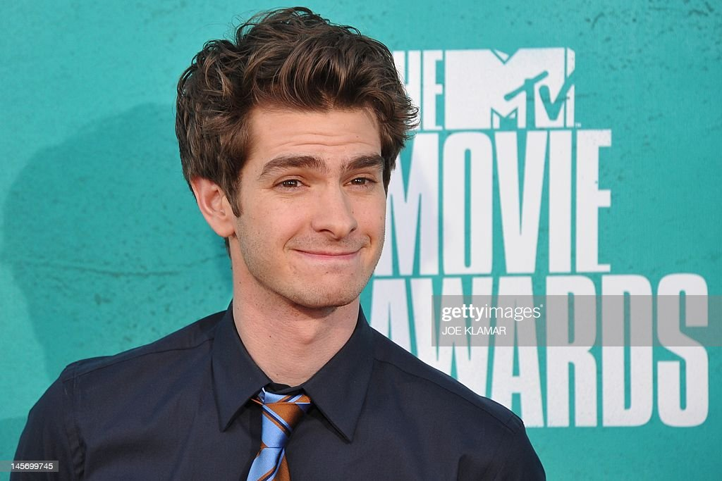 Actor Andrew Garfield arrives at the MTV Movie Awards at Universal Studios, in Los Angeles, California, on June 3, 2012.