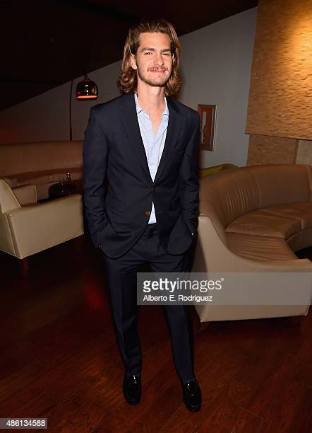 Actor Andrew Garfield attends a special screening of '99 Homes' on August 31 2015 in Los Angeles California
