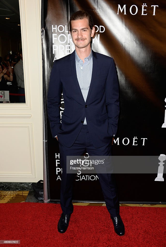 Actor <a gi-track='captionPersonalityLinkClicked' href=/galleries/search?phrase=Andrew+Garfield&family=editorial&specificpeople=4047840 ng-click='$event.stopPropagation()'>Andrew Garfield</a> attends HFPA Annual Grants Banquet at the Beverly Wilshire Four Seasons Hotel on August 13, 2015 in Beverly Hills, California.