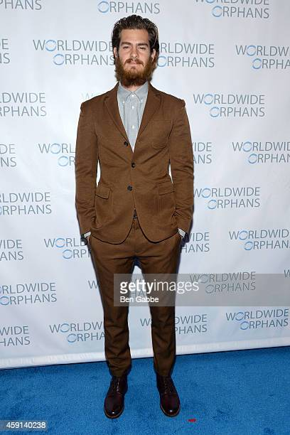Actor Andrew Garfield attends the 10th Annual Worldwide Orphans Gala at Cipriani Wall Street on November 17 2014 in New York City