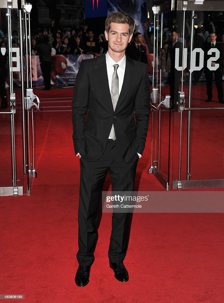 Actor <a gi-track='captionPersonalityLinkClicked' href=/galleries/search?phrase=Andrew+Garfield&family=editorial&specificpeople=4047840 ng-click='$event.stopPropagation()'>Andrew Garfield</a> attends 'The Amazing Spider-Man 2' world premiere at the Odeon Leicester Square on April 10, 2014 in London, England.