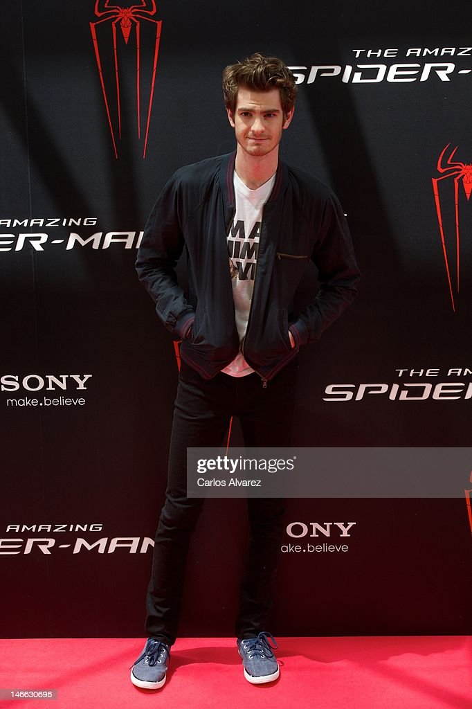 Actor <a gi-track='captionPersonalityLinkClicked' href=/galleries/search?phrase=Andrew+Garfield&family=editorial&specificpeople=4047840 ng-click='$event.stopPropagation()'>Andrew Garfield</a> attends 'The Amazing Spider-Man' photocall at Villamagna Hotel on June 21, 2012 in Madrid, Spain.