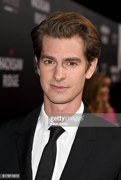 Actor Andrew Garfield attends the screening of Summit Entertainment's 'Hacksaw Ridge' at Samuel Goldwyn Theater on October 24 2016 in Beverly Hills...