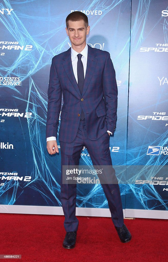 Actor Andrew Garfield attends the 'The Amazing Spider-Man 2' New York Premiere on April 24, 2014 in New York City.