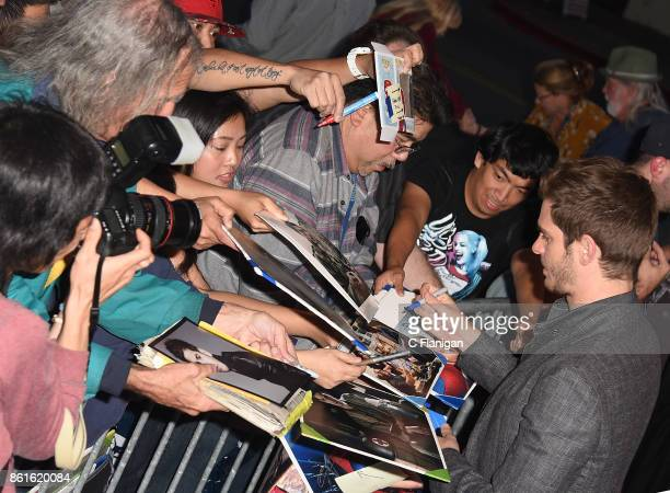 Actor Andrew Garfield greets fans during a special screening of 'Breathe' during the 40th Mill Valley Film Festival at Christopher B Smith Rafael...