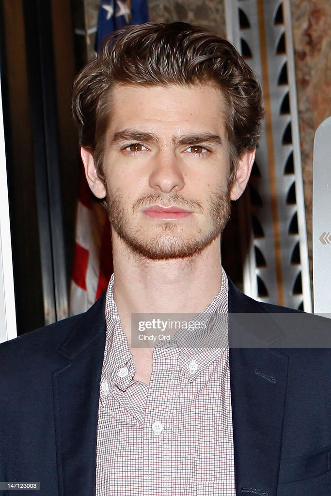 Actor <a gi-track='captionPersonalityLinkClicked' href=/galleries/search?phrase=Andrew+Garfield&family=editorial&specificpeople=4047840 ng-click='$event.stopPropagation()'>Andrew Garfield</a> visits The Empire State Building on June 25, 2012 in New York City.