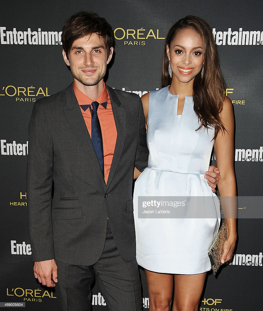 Actor Andrew J. West and actress <a gi-track='captionPersonalityLinkClicked' href=/galleries/search?phrase=Amber+Stevens&family=editorial&specificpeople=4152761 ng-click='$event.stopPropagation()'>Amber Stevens</a> attend the 2014 Entertainment Weekly pre-Emmy party at Fig & Olive Melrose Place on August 23, 2014 in West Hollywood, California.