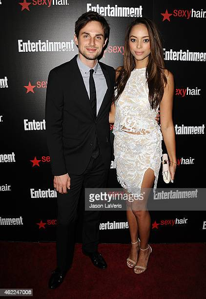 Actor Andrew J West and actress Amber Stevens attend the Entertainment Weekly celebration honoring nominees for the Screen Actors Guild Awards at...