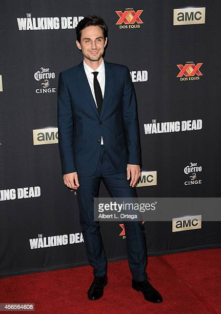 Actor Andrew J West arrives for the Season 5 Premiere Of 'The Walking Dead' held at AMC Universal City Walk on October 2 2014 in Universal City...