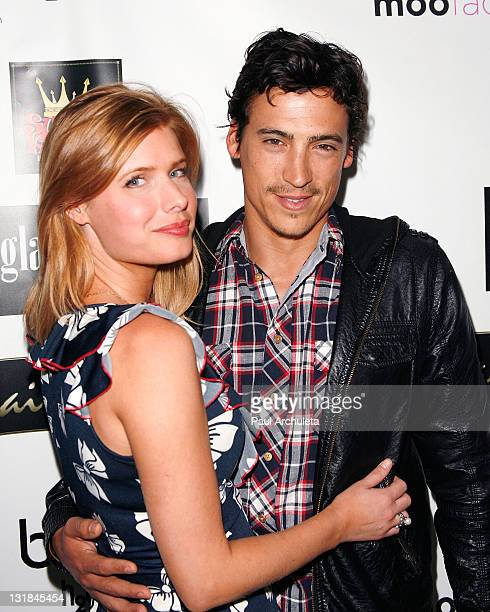 Actor Andrew Keegan and his guest arrive at the ShaBoom Cosmetics launch party to benefit One Mama Foundation on November 17 2010 in Beverly Hills...