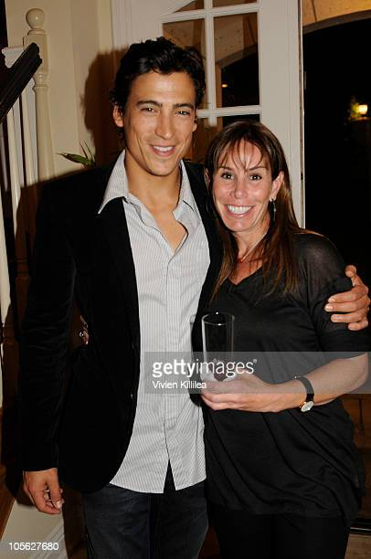 Actor Andrew Keegan and Melissa Rivers attend the Cocktail Party For Bryan Brothers Grand Slam Jam Hosted By Melissa Rivers at her house on October...