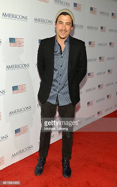 Actor Andrew Keegan attends a screening of the film 'Americons' at ArcLight Cinemas on January 22 2015 in Hollywood California