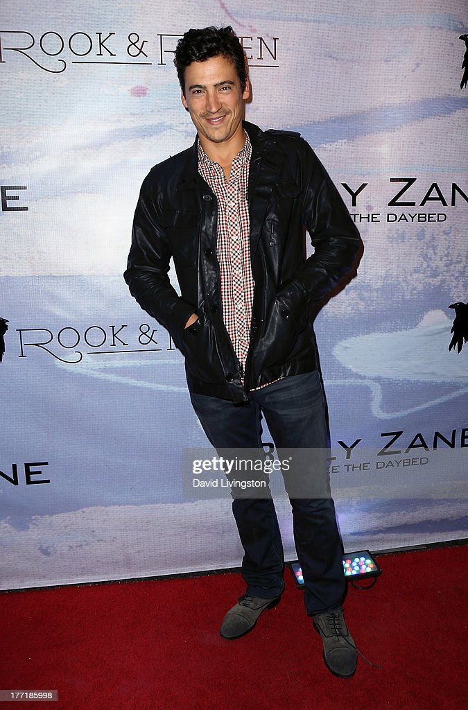 Actor Andrew Keegan attends the opening night of Billy Zane's 'Seize The Day Bed' solo art exhibition at G+ Gulla Jonsdottir Design on August 21, 2013 in Los Angeles, California.