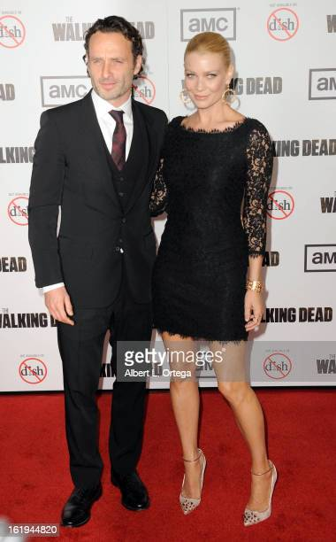 Actor Andrew Lincoln and actress Laurie Holden arrive for AMC's 'The Walking Dead' Season 3 Premiere held at AMC Universal Citywalk Stadium 19 on...