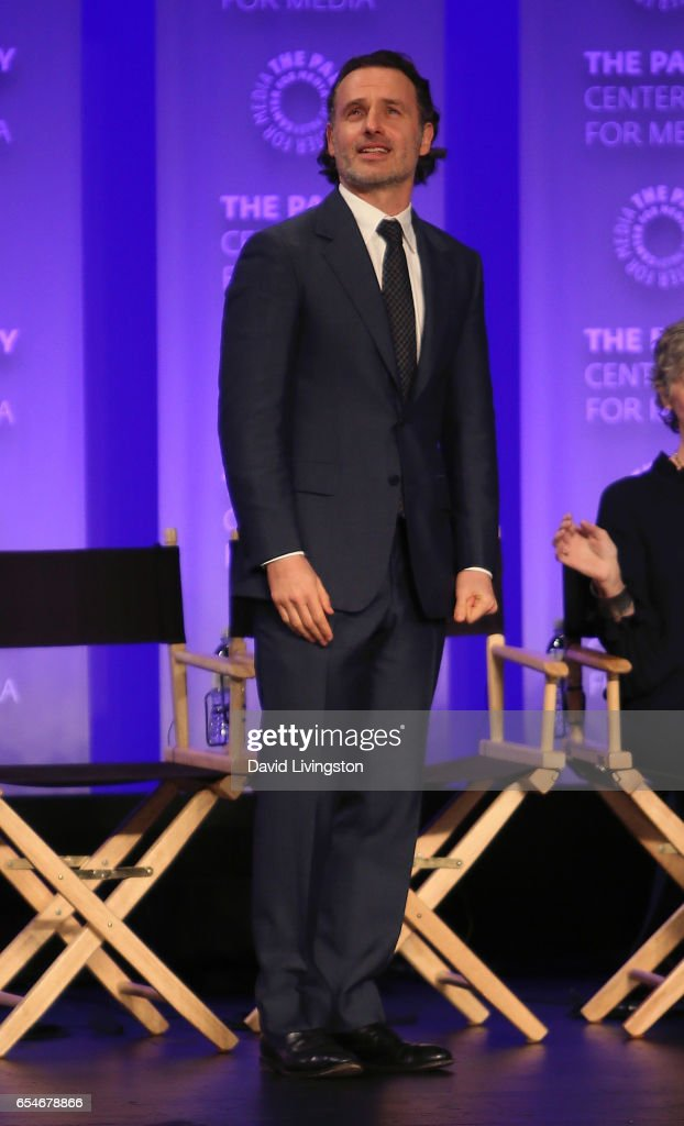 Actor Andrew Lincoln appears on stage at The Paley Center for Media's 34th Annual PaleyFest Los Angeles opening night presentation of 'The Walking Dead' at Dolby Theatre on March 17, 2017 in Hollywood, California.
