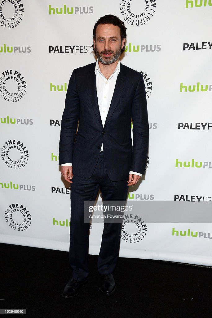 Actor Andrew Lincoln arrives at the 30th Annual PaleyFest: The William S. Paley Television Festival featuring 'The Walking Dead' at Saban Theatre on March 1, 2013 in Beverly Hills, California.