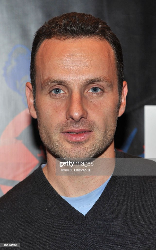 Actor <a gi-track='captionPersonalityLinkClicked' href=/galleries/search?phrase=Andrew+Lincoln&family=editorial&specificpeople=216410 ng-click='$event.stopPropagation()'>Andrew Lincoln</a> attends the 2010 New York Comic Con at the Jacob Javitz Center on October 10, 2010 in New York City.