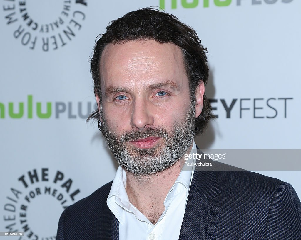 Actor <a gi-track='captionPersonalityLinkClicked' href=/galleries/search?phrase=Andrew+Lincoln&family=editorial&specificpeople=216410 ng-click='$event.stopPropagation()'>Andrew Lincoln</a> attends the 30th Annual PaleyFest featuring the cast of 'The Walking Dead' at Saban Theatre on March 1, 2013 in Beverly Hills, California.