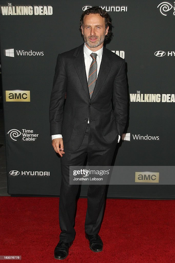 Actor Andrew Lincoln attends the AMC's 'The Walking Dead' - Season 4 Premiere Party at AMC Universal City Walk on October 3, 2013 in Universal City, California.