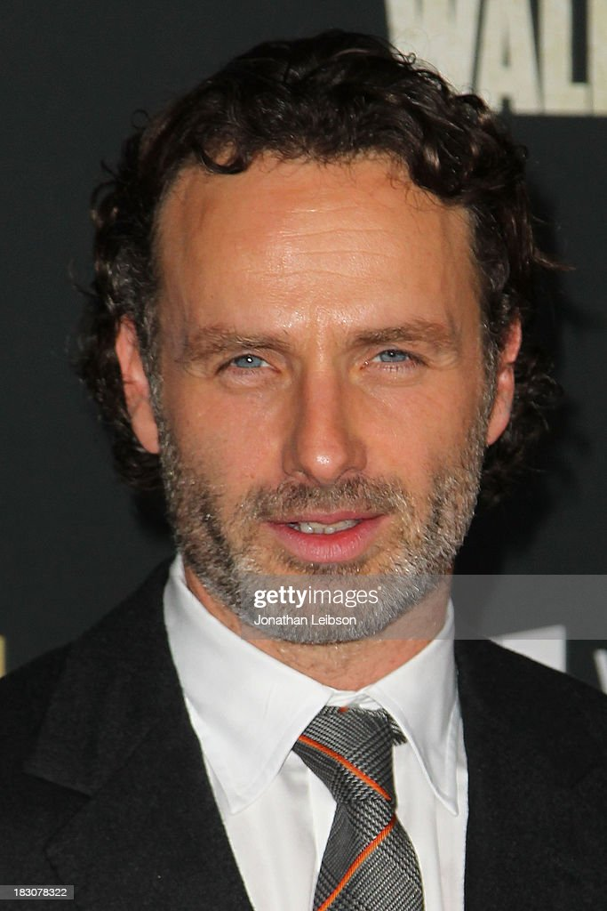 Actor <a gi-track='captionPersonalityLinkClicked' href=/galleries/search?phrase=Andrew+Lincoln&family=editorial&specificpeople=216410 ng-click='$event.stopPropagation()'>Andrew Lincoln</a> attends the AMC's 'The Walking Dead' - Season 4 Premiere Party at AMC Universal City Walk on October 3, 2013 in Universal City, California.