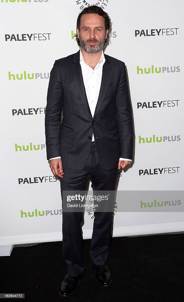 Actor Andrew Lincoln attends The Paley Center for Media's PaleyFest 2013 honoring 'The Walking Dead' at the Saban Theatre on March 1, 2013 in Beverly Hills, California.