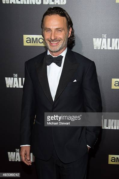 Actor Andrew Lincoln attends 'The Walking Dead' season six premiere at Madison Square Garden on October 9 2015 in New York City