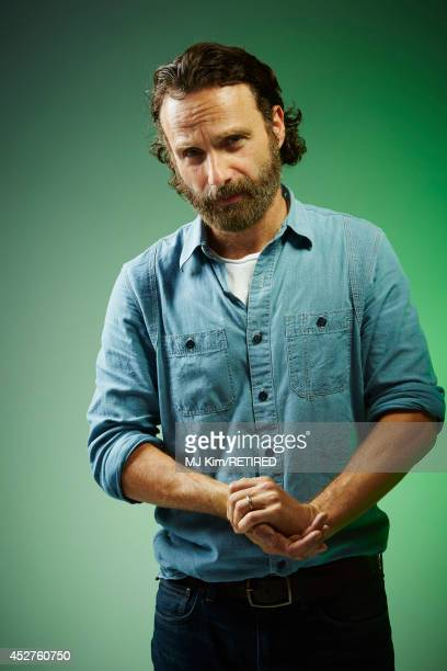 Actor Andrew Lincoln poses for a portrait at the Getty Images Portrait Studio powered by Samsung Galaxy at ComicCon International 2014 at Hard Rock...