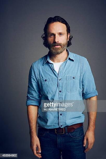 Actor Andrew Lincoln poses for a portrait at the Getty Images Portrait Studio powered by Samsung Galaxy at ComicCon International 2014 on July 24...
