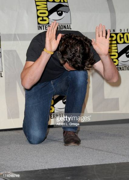 Actor Andrew Lincoln speaks onstage at AMC's 'The Walking Dead' panel during ComicCon International 2013 at San Diego Convention Center on July 19...