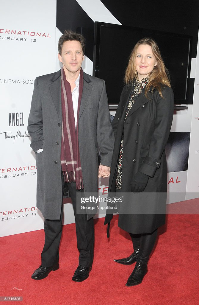 Actor Andrew McCarthy and wife Carol Schneider attend the Cinema Society and Angel by Thierry Mugler screening of 'The International' at AMC Lincoln...