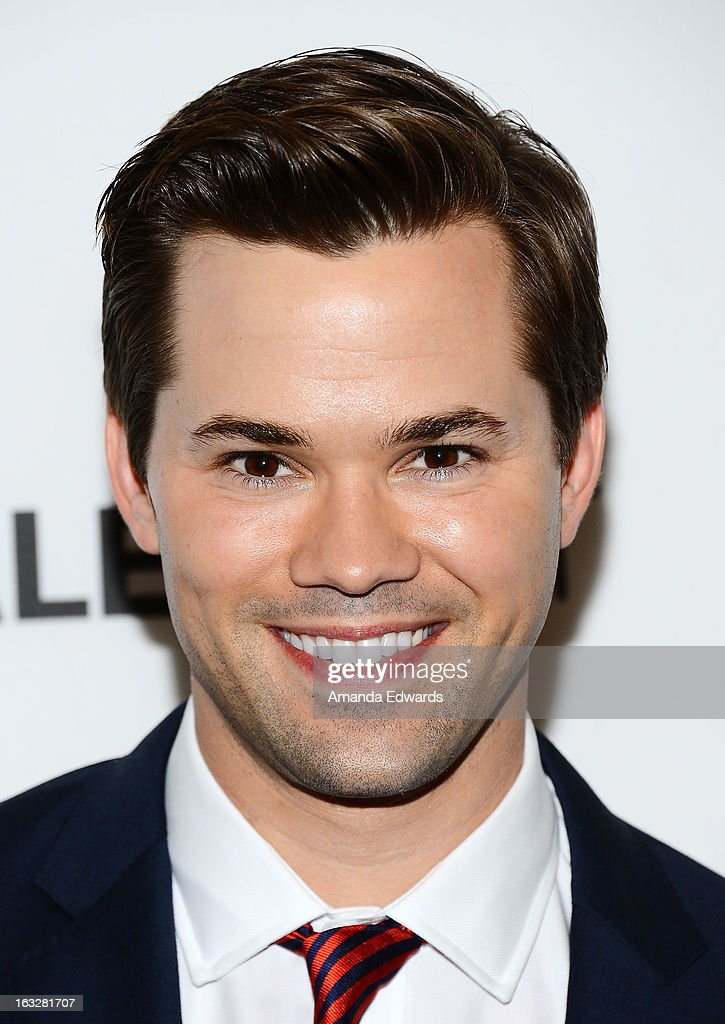 Actor <a gi-track='captionPersonalityLinkClicked' href=/galleries/search?phrase=Andrew+Rannells&family=editorial&specificpeople=2471329 ng-click='$event.stopPropagation()'>Andrew Rannells</a> arrives at the 30th Annual PaleyFest: The William S. Paley Television Festival featuring 'The New Normal' at the Saban Theatre on March 6, 2013 in Beverly Hills, California.