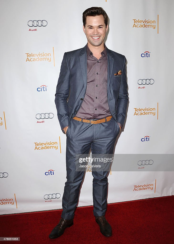 Actor <a gi-track='captionPersonalityLinkClicked' href=/galleries/search?phrase=Andrew+Rannells&family=editorial&specificpeople=2471329 ng-click='$event.stopPropagation()'>Andrew Rannells</a> attends an evening with 'Girls' at Leonard H. Goldenson Theatre on March 13, 2014 in North Hollywood, California.