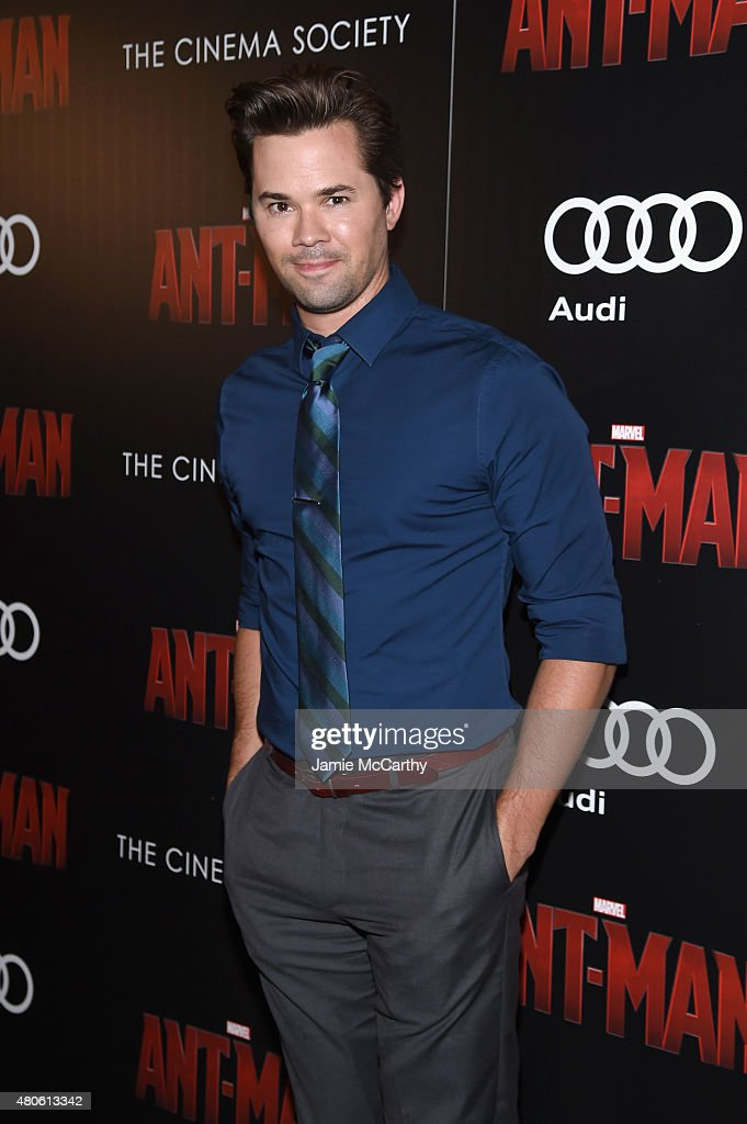 Actor Andrew Rannells attends Marvel's screening of 'Ant-Man' hosted by The Cinema Society and Audi at SVA Theater on July 13, 2015 in New York City.