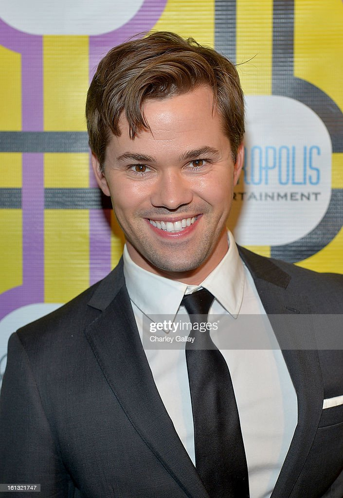 Actor <a gi-track='captionPersonalityLinkClicked' href=/galleries/search?phrase=Andrew+Rannells&family=editorial&specificpeople=2471329 ng-click='$event.stopPropagation()'>Andrew Rannells</a> attends the Family Equality Council LA Awards Dinner at The Globe Theatre at Universal Studios on February 9, 2013 in Universal City, California.