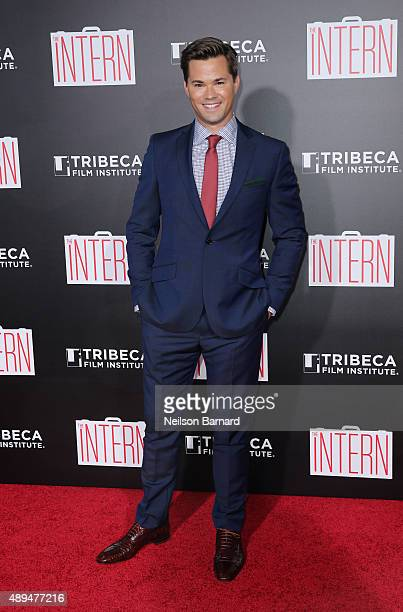 Actor Andrew Rannells attends 'The Intern' New York Premiere at Ziegfeld Theater on September 21 2015 in New York City